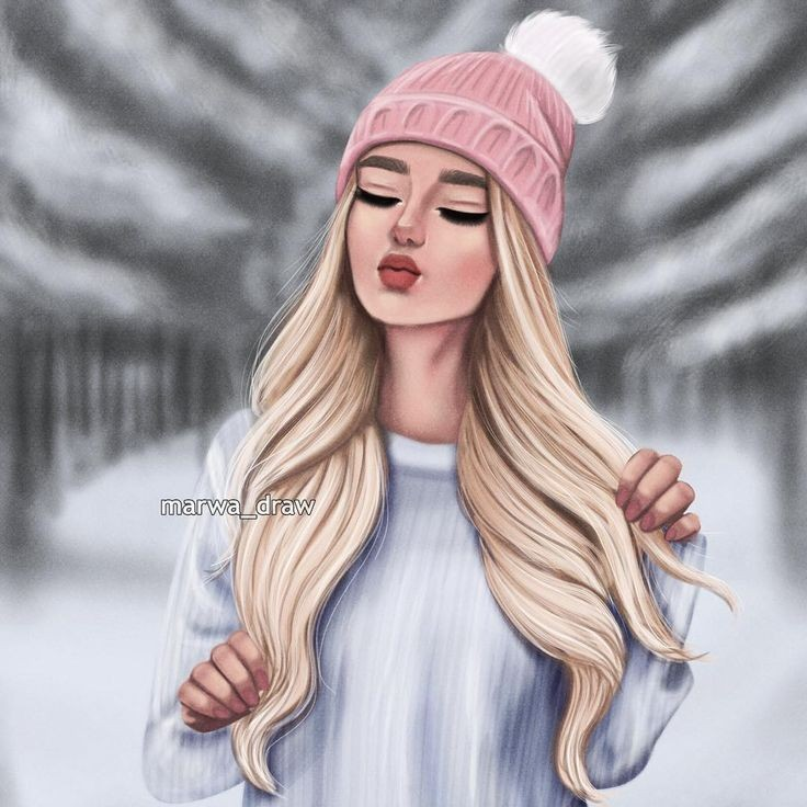 draw, girl, and девочка image
