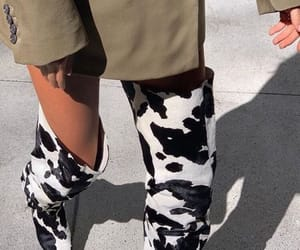 aesthetic, cow, and shoes image