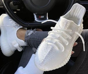 kanye west, sneakers, and white image