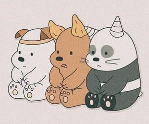 wallpaper, panda, and bear image