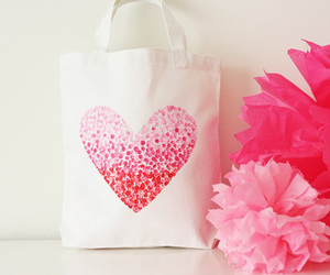 bag, pink, and heart image