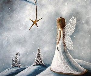 angel, star, and white image