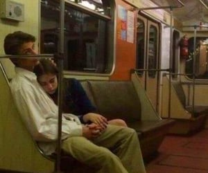 couple, love, and subway image