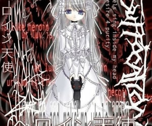 anime, cyber, and goth image