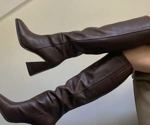 boots, style, and brown image