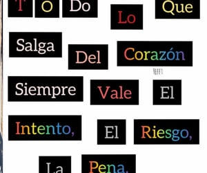 frases español, riesgo, and siempre image