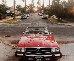 la, red car, and car image