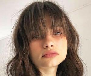 bangs, hair, and hair cut image