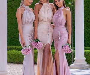 vestido de novia, robe de soirée, and modest bridesmaid dress image
