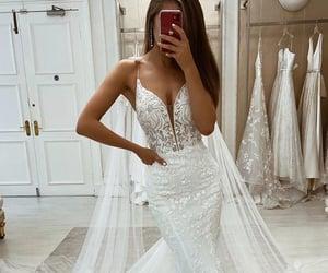 dress, wedding idea, and mermaid wedding dress image