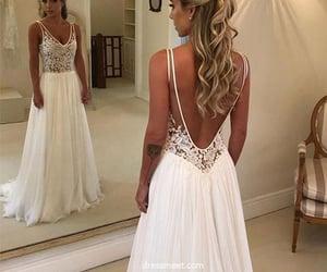 wedding dresses, fashion wedding dresses, and v neck wedding dresses image