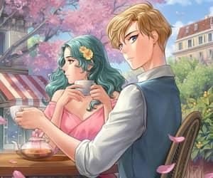haruka, michiru, and sailor moon s image
