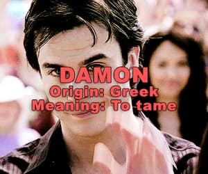 Damon Salvatore - Name Meaning [Tumblr: @tvdversegifs]