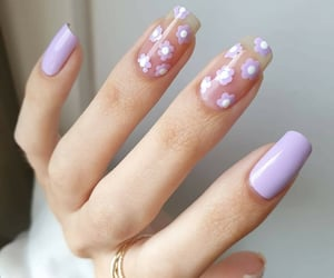 aesthetic, lilac, and nail art image