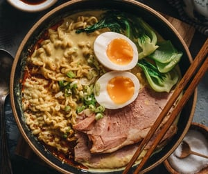 curry, ham, and asian food image