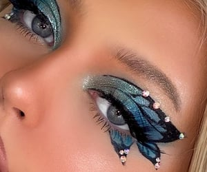 makeup, aesthetic, and butterfly image