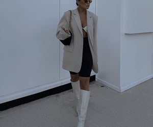 knee high boots, chic elegant, and outfit of the day ootd image