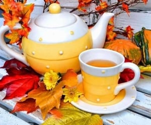 autumn, teacup, and fall image
