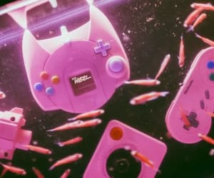 hot pink, pink, and videogame image