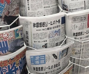 aesthetic, newspaper, and japan image