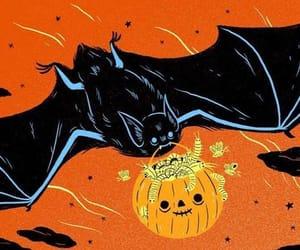 autumn, bat, and Halloween image