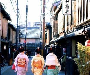 geisha, japanese, and kimono image