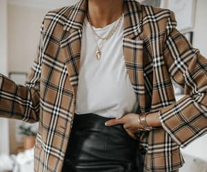 fashion, leather, and outfit image