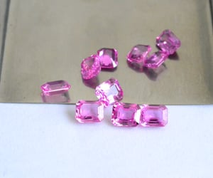 pink sapphire, hot pink sapphire, and loose pink sapphires image