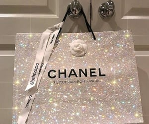 chanel, glitter, and bag image
