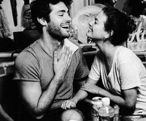 black&white, happy, and couple image