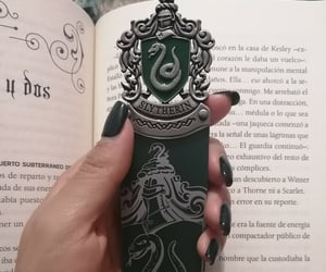 book, bookmark, and harry potter image