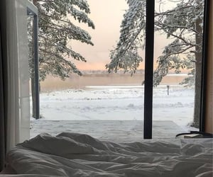 winter, snow, and view image