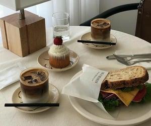 food, cupcake, and coffee image