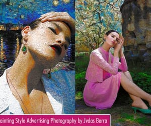advertising photography, van gogh painting, and photography image