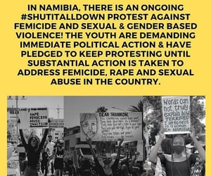 africa, namibia, and protests image
