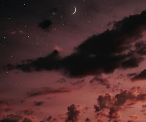 sky, moon, and night image