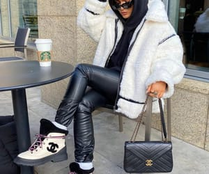 blogger, chanel bag, and coffee image