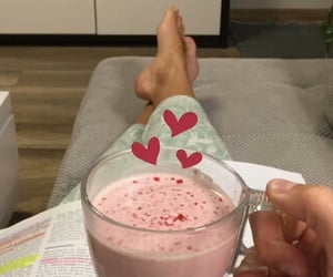 drink, smoothie, and study image