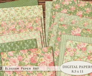 etsy, scrapbook paper, and digital download image