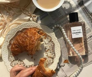 beige, aesthetic, and croissant image