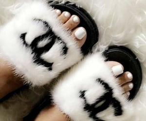 chanel, slides, and slippers image