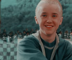 draco malfoy, headers, and slytherin image