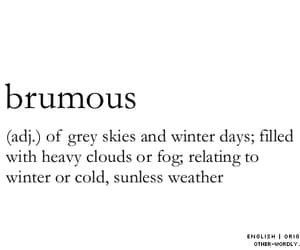 brumous, winter, and clouds image