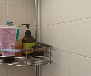 shower, soap, and shampoo image