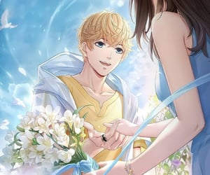 anime, couple, and mr love: queen's choice image