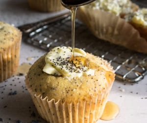 honey, muffins, and lavender image