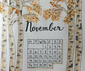 calendar, november, and orange image