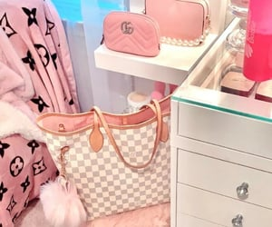 girl stuff, pink, and girly image