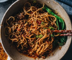 chinese food, sesame, and spicy image