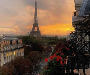 dreamy, flowers, and eiffel tower image